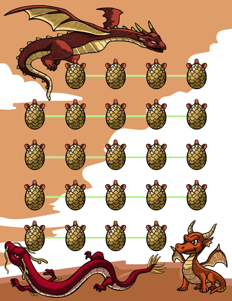 Dragon Themed Potty Reward Chart