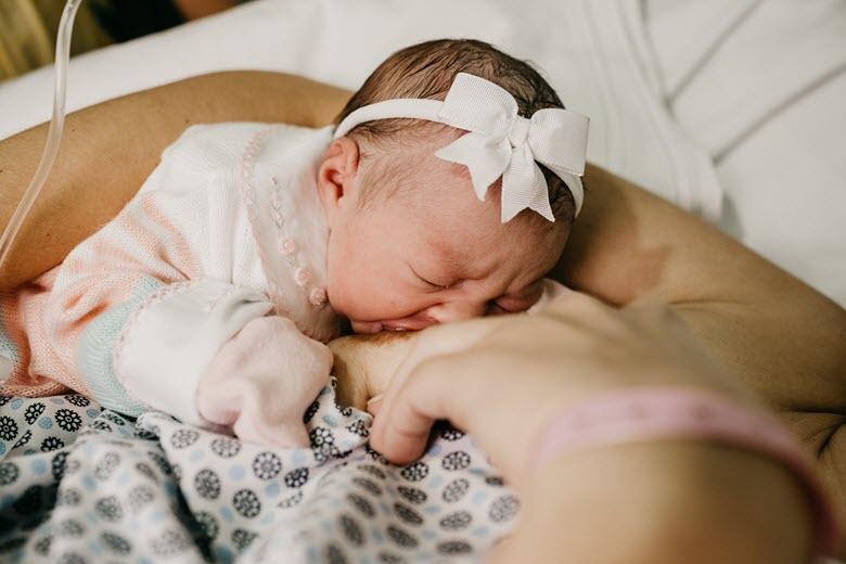 Fidgeting at night or when breastfeeding