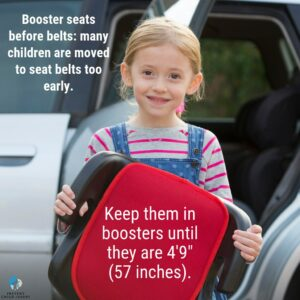 When can I move my child to a booster seat?
