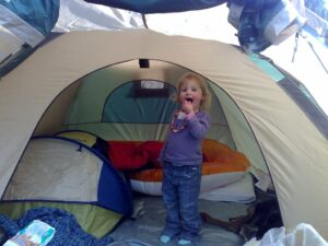 toddler camping bed