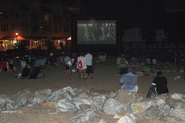 Free Movies on the Beach Chesapeake Bay Maryland