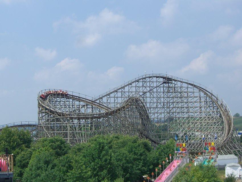 Wildcat Roller Coaster at Adventure Park USA