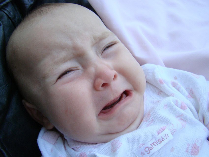 baby crying with colic