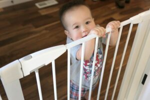Protect Baby From Stairs with a Gate