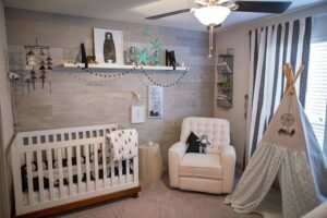 Ceiling fan in Baby Nursery Room