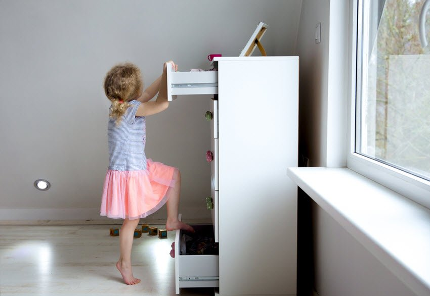 Child Climbing Dresser Danger Hazard