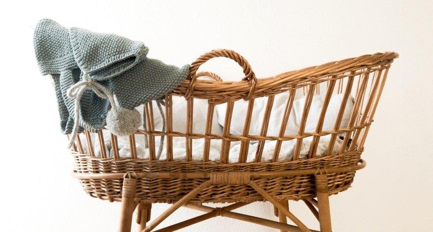 a baby's cradle