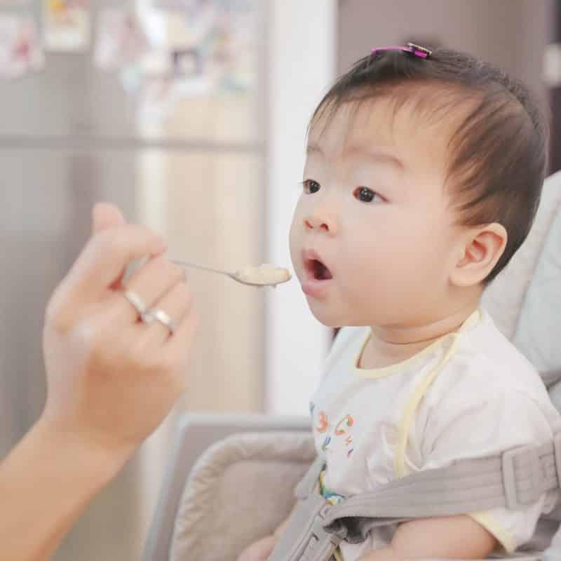 baby won't take formula because of solid food