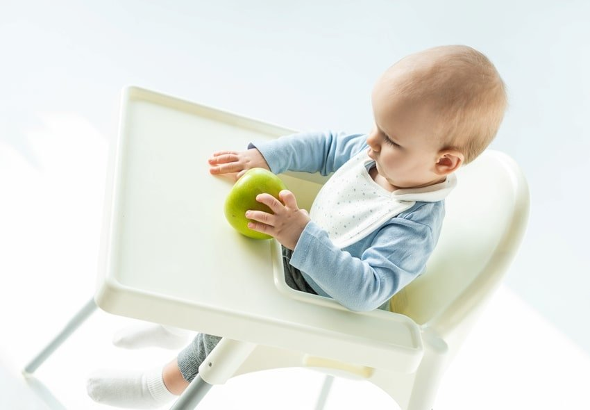 baby on high chair