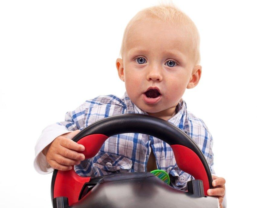boy playing car