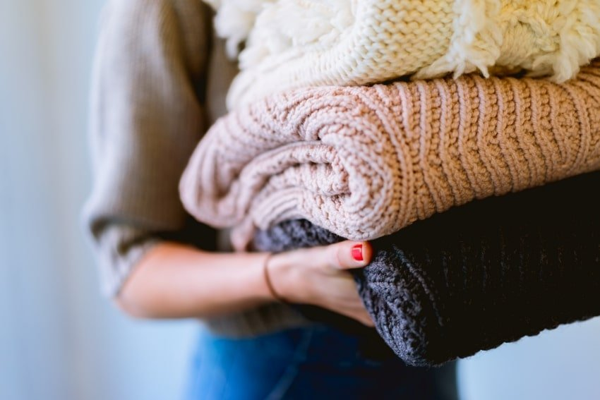 sweaters on hand