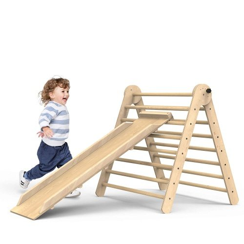 Toddler Slide Indoor Playground Set Activity Climber Kid Play Structure Triangle