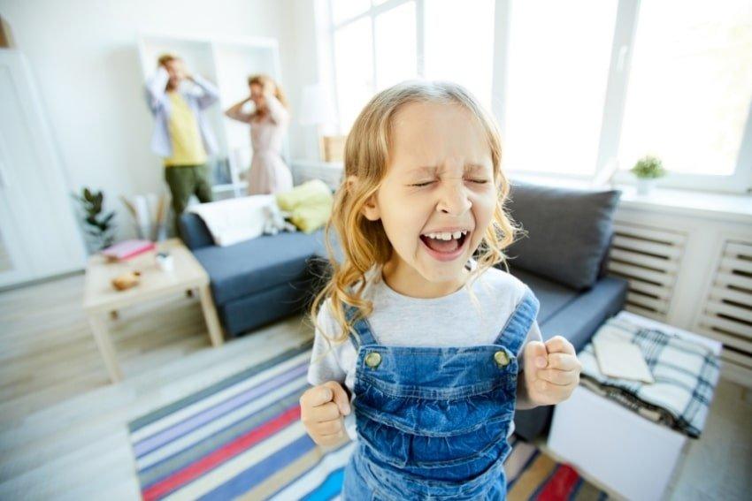 child having a tantrum