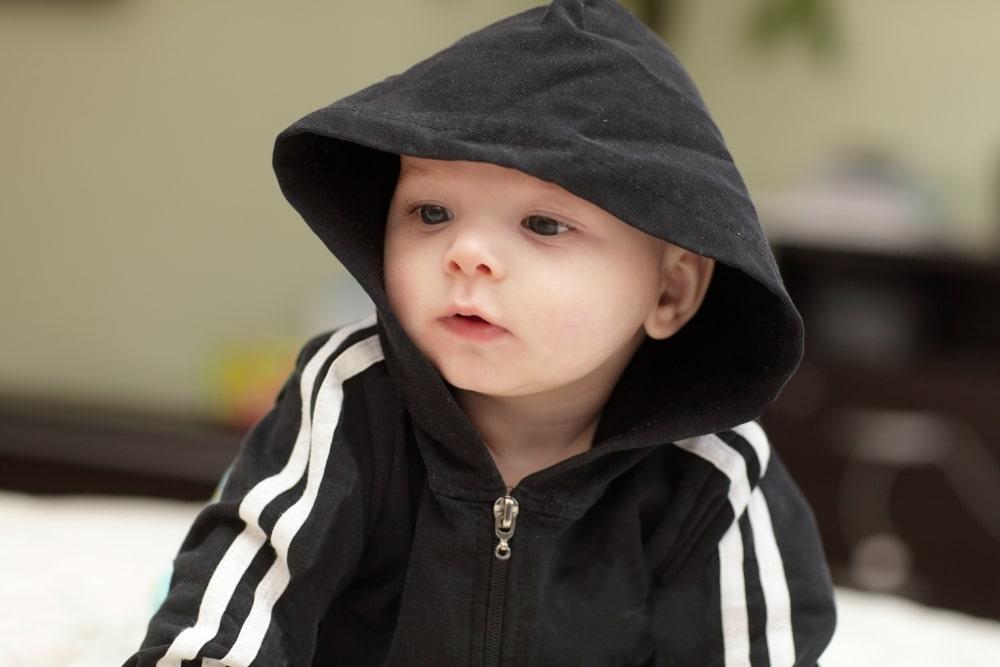 baby in black