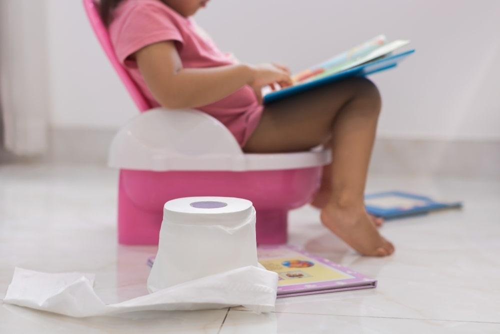 child in potty