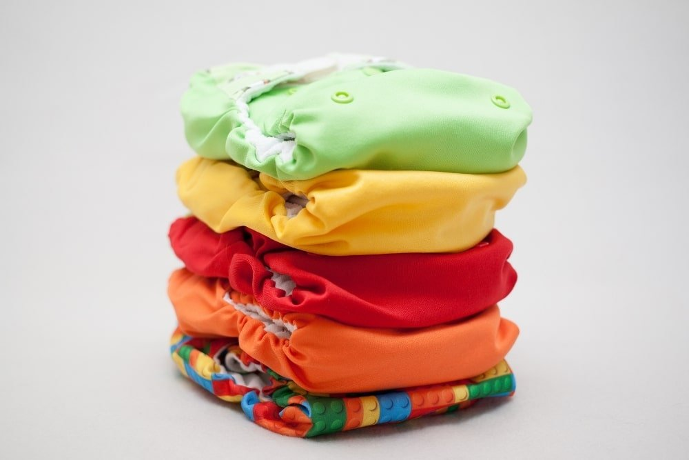 folded cloth diapers