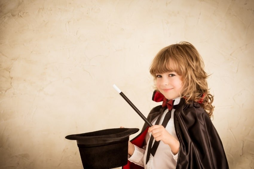 girl wearing a witch uniform