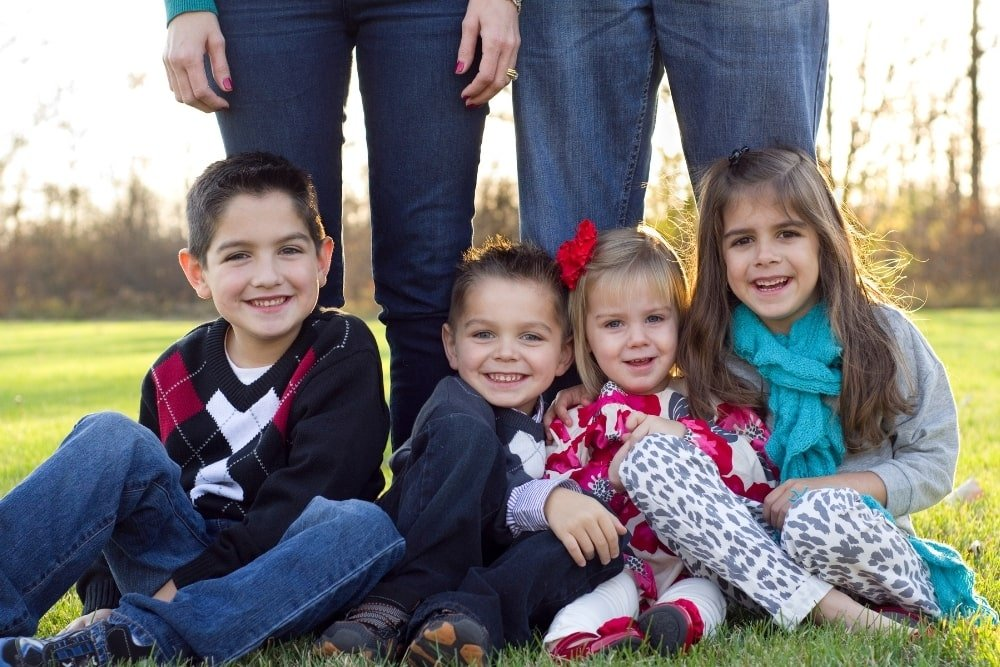 parent with four kids