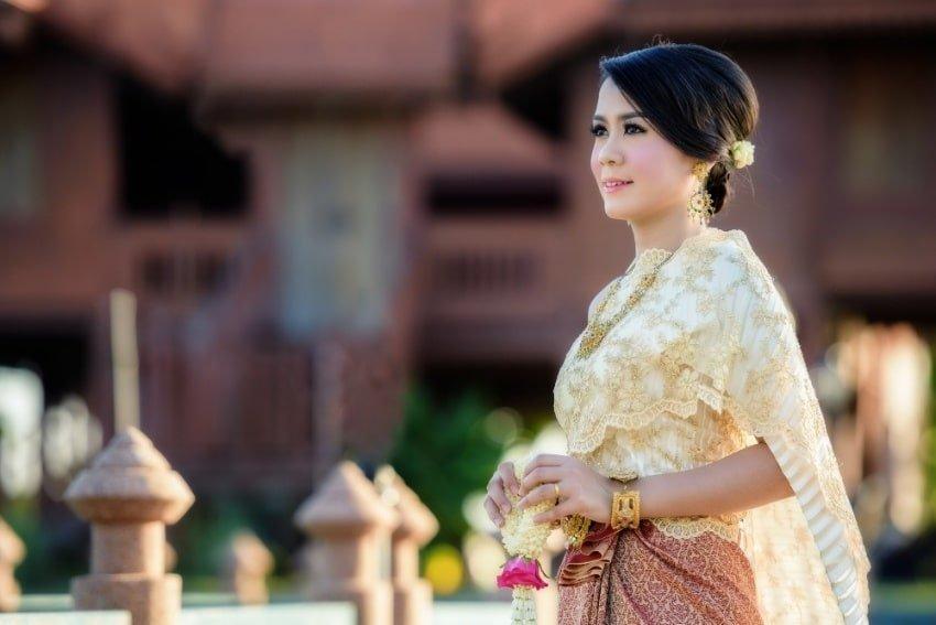 thai girl outdoor
