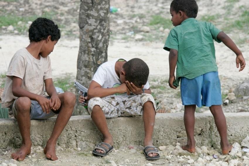 Cuban boys playing