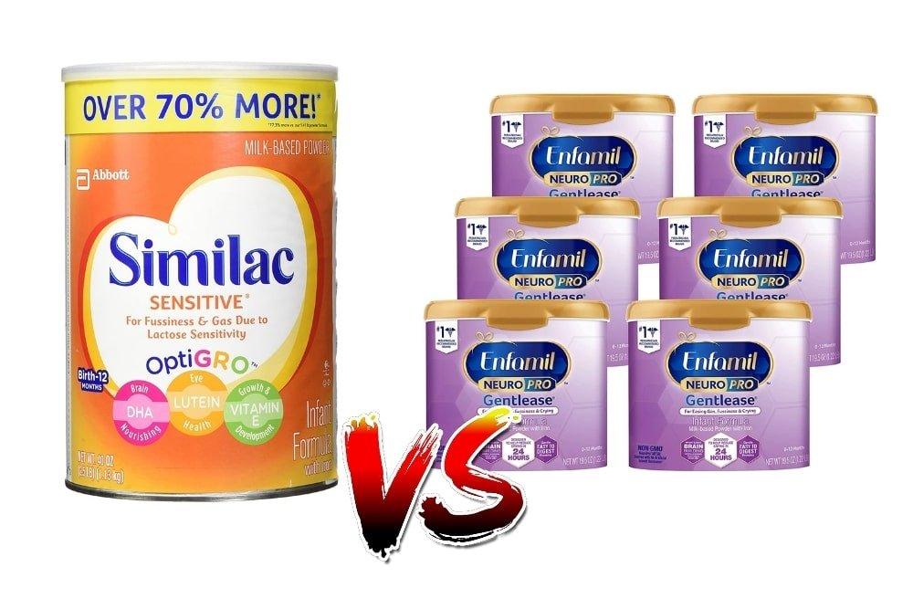 Similac Sensitive vs Enfamil Gentlease - The Differences Explained