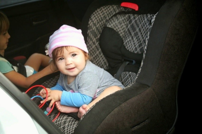 baby on a carseat