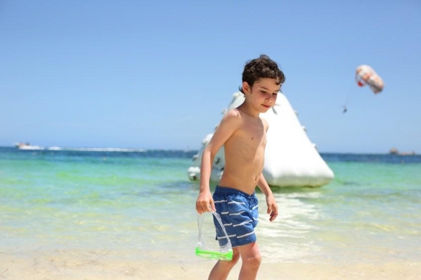 boy in the caribbean