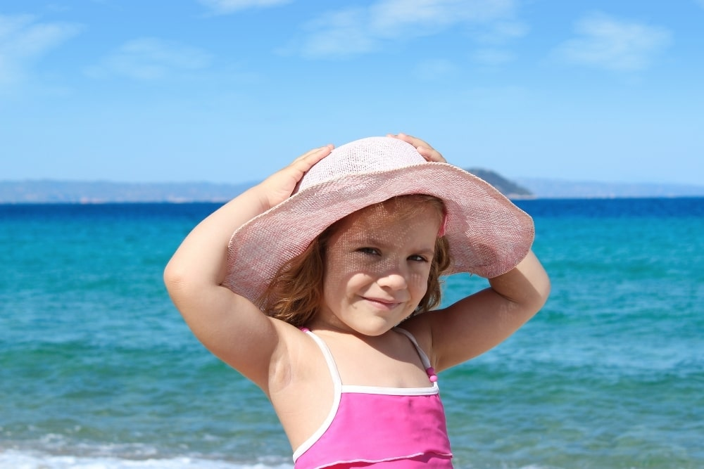 girl on a sunny day at the beach