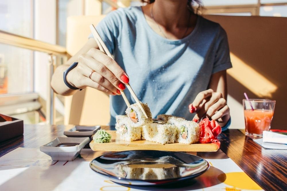 restaurant serving sushi