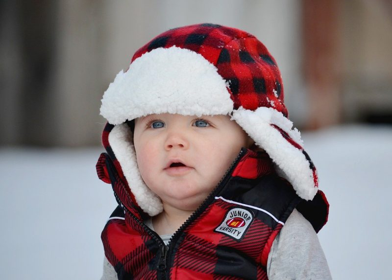 baby bundled for winter