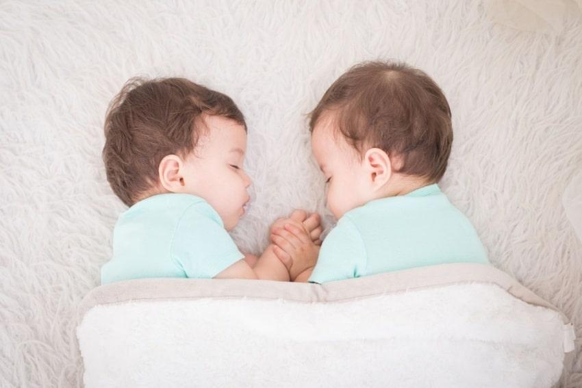 two babies sleeping