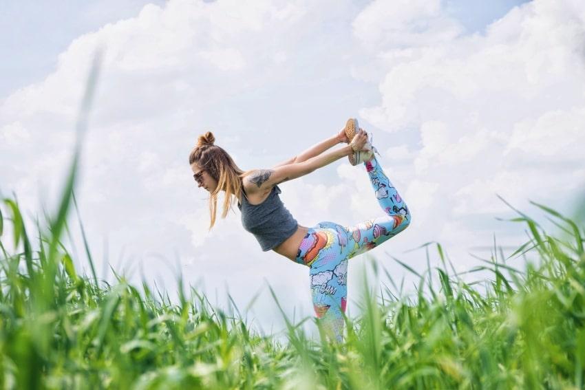 woman doing yoga in poland