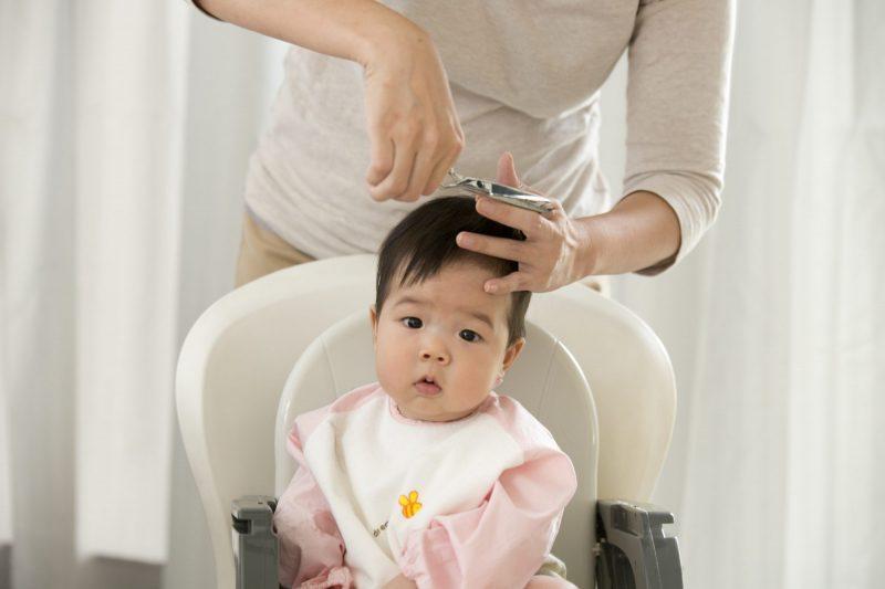 cutting baby hair