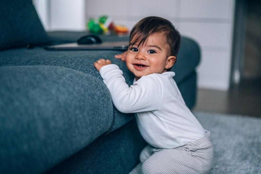 baby boy near couch
