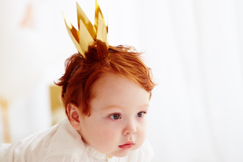 baby boy with a crown
