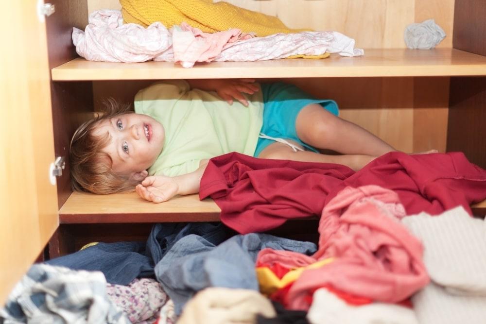 boy in a closet