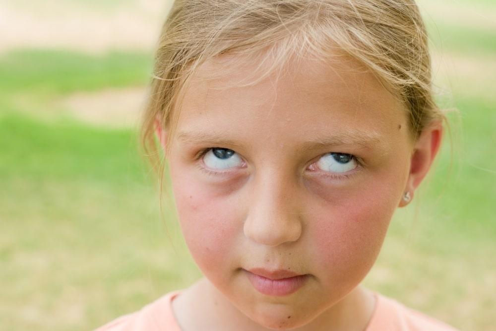 child eye roll