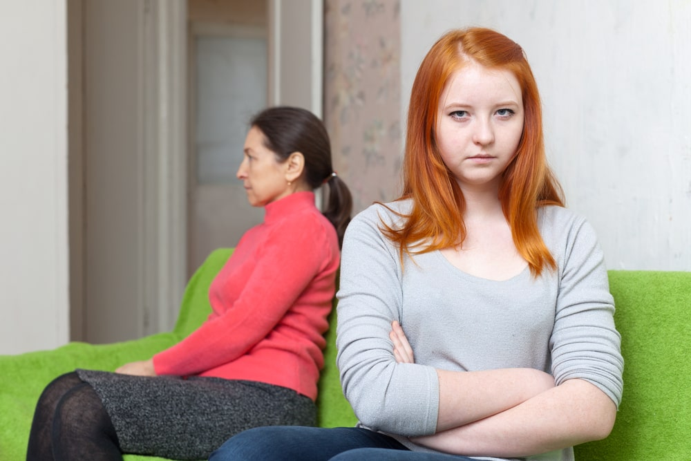Mother and teen daughter having conflict