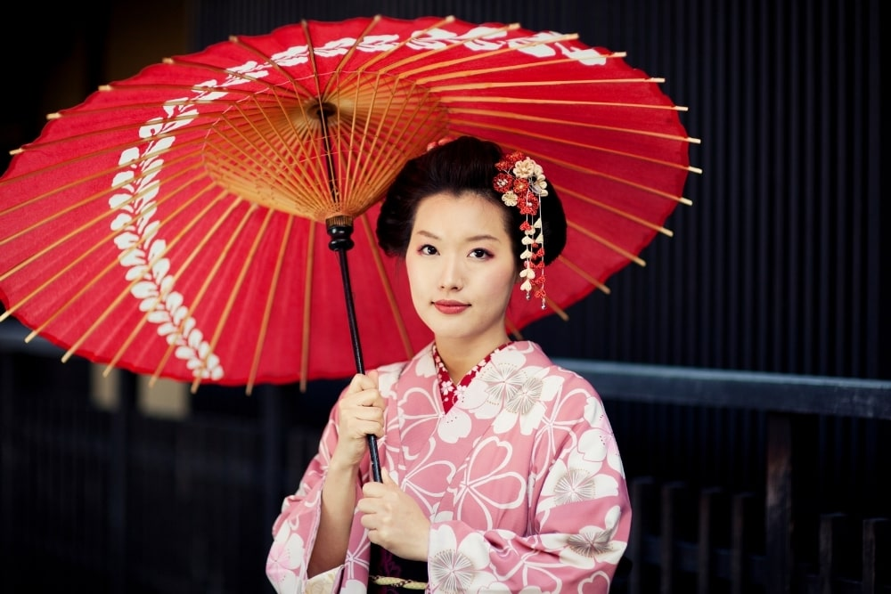 girl woman in a kimono