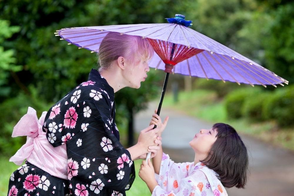 girl woman in a kimono14