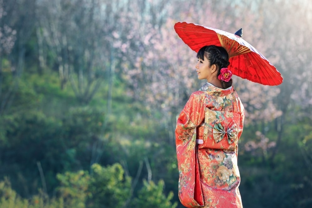 girl woman in a kimono5