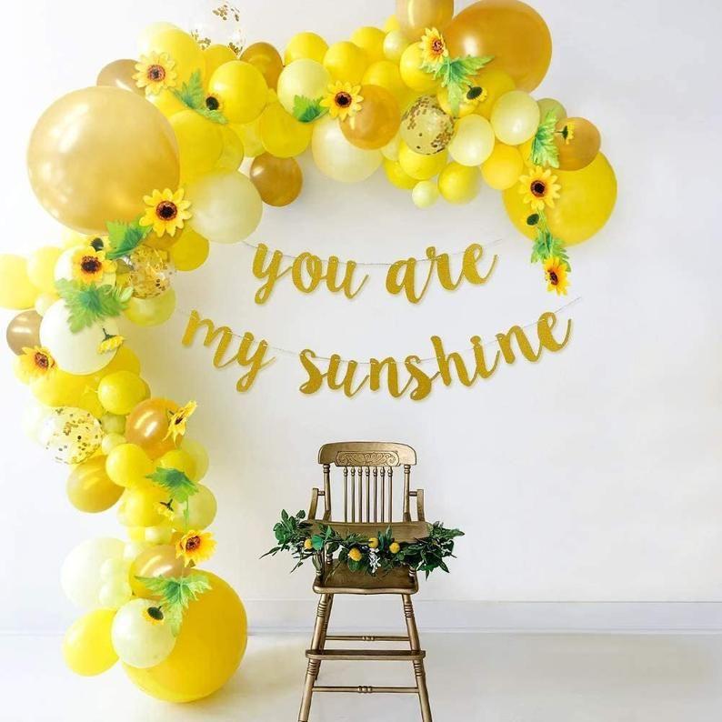 yellow balloon garland