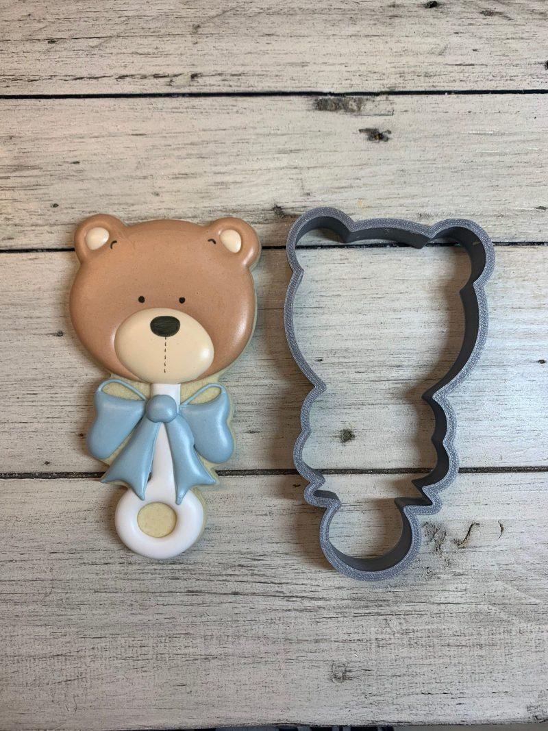 teddy bear rattle cookie
